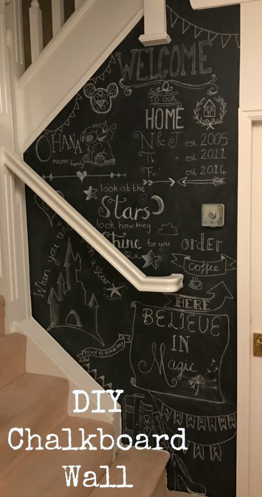 Chalkboard wall diy decoration at home its super easy to do Diy home decor blog uk